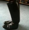 Lederreitstiefel Gr. 37 schmales Bein