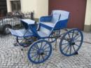 Schöne blaue Kutsche für Liebhaber