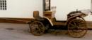 Kutsche, Zweispänner mit Dach Plane und Spriegel